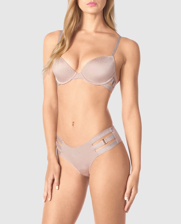 Lightly Lined Demi Bra Lavender Stone 1