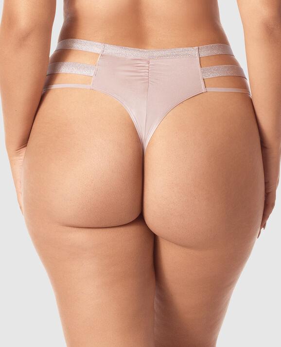 High Waist Thong Panty Lavender Stone 2