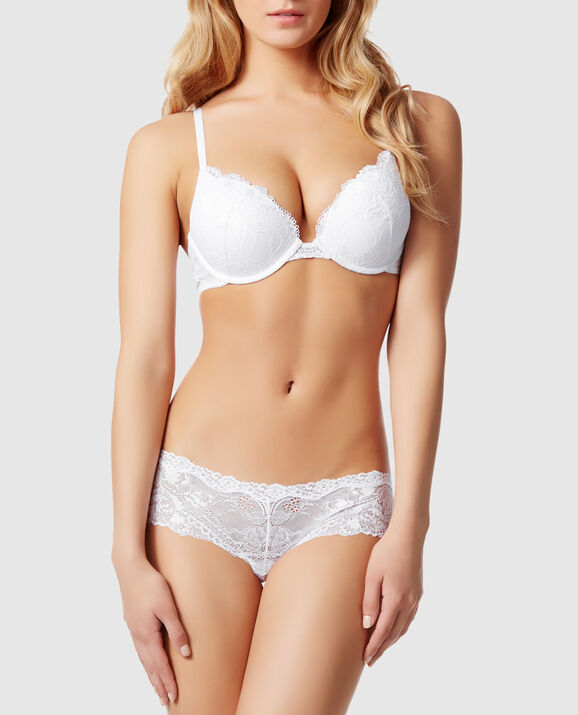 Up 2 Cup Push Up Bra White 1