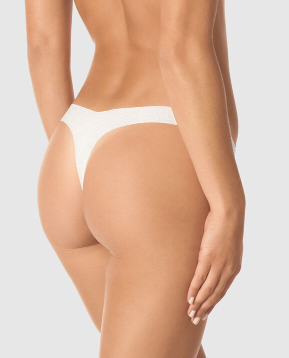High Leg Thong Panty Coconut White 2
