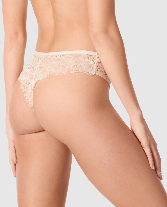 High Waist Thong Panty Linen 2