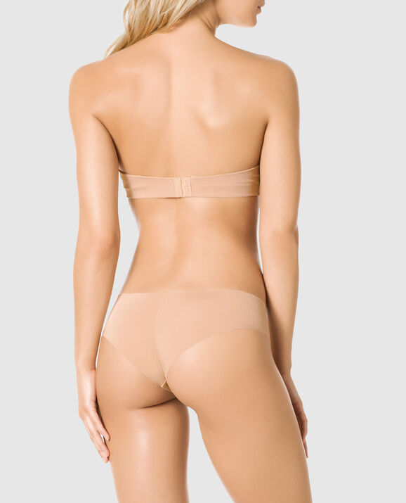Strapless Push Up Bra Rose Tan 2