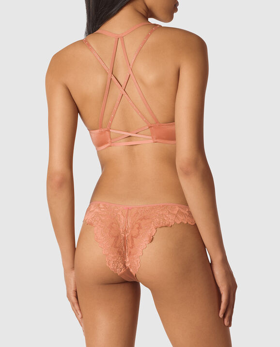 Front-Close Lightly Lined Demi Bra Desert Blush 2