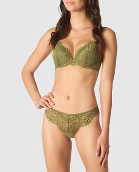 Light Push Up Bra Brilliant Green 1