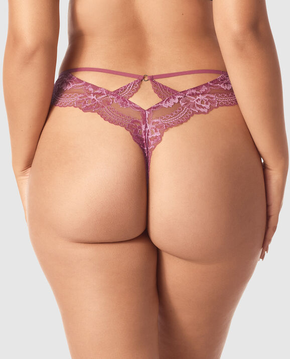 High Waist Thong Panty Bayberry 2