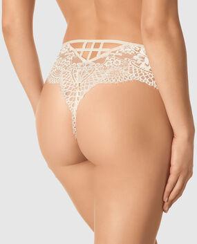 High Waist Thong Panty Smoulder Black 1