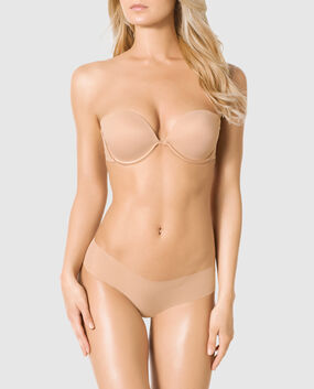 Strapless Push Up Bra Rose Tan 1