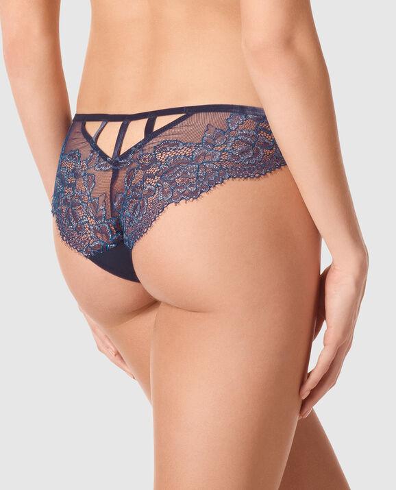 V Front Brazilian Panty Blue Velvet 2