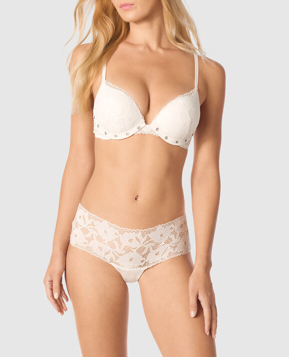 Up 2 Cup Push Up Bra Coconut White 1