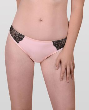 The Flawless Lace Trim Thong Panty Rose Tan 1