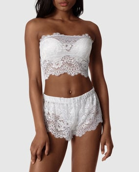 Lace Bandeau and Short Set