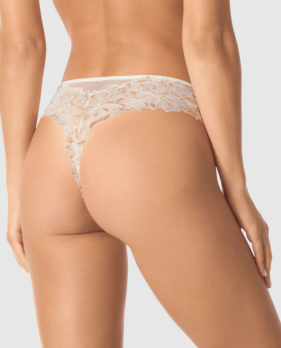 High Waist Thong Panty Coconut White 2