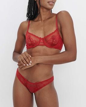 Scarlet Lace Bra Heatwave Red 1
