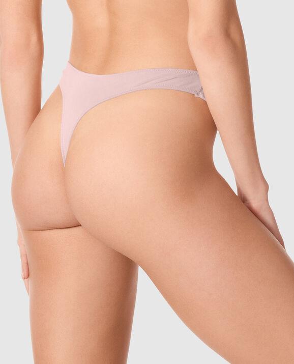 High Leg Thong Panty Pearly Rose 2