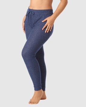 Cozy Ribbed Legging Blue Velvet 1