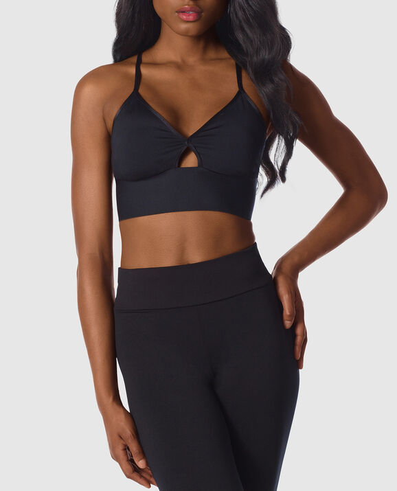 Low Impact Sports Bra Smoulder Black 1