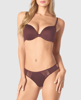 Push Up Bra Chocolate Plum 1