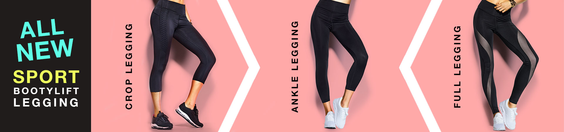 All New. Sport bootylift legging. Crop legging. Ankle legging. Full legging.